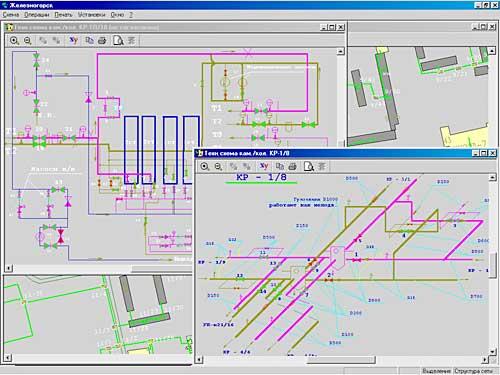 """Первый уровень описывается  """"внешней """" схемой сети, причем, как правило, в однолинейном изображении..."""